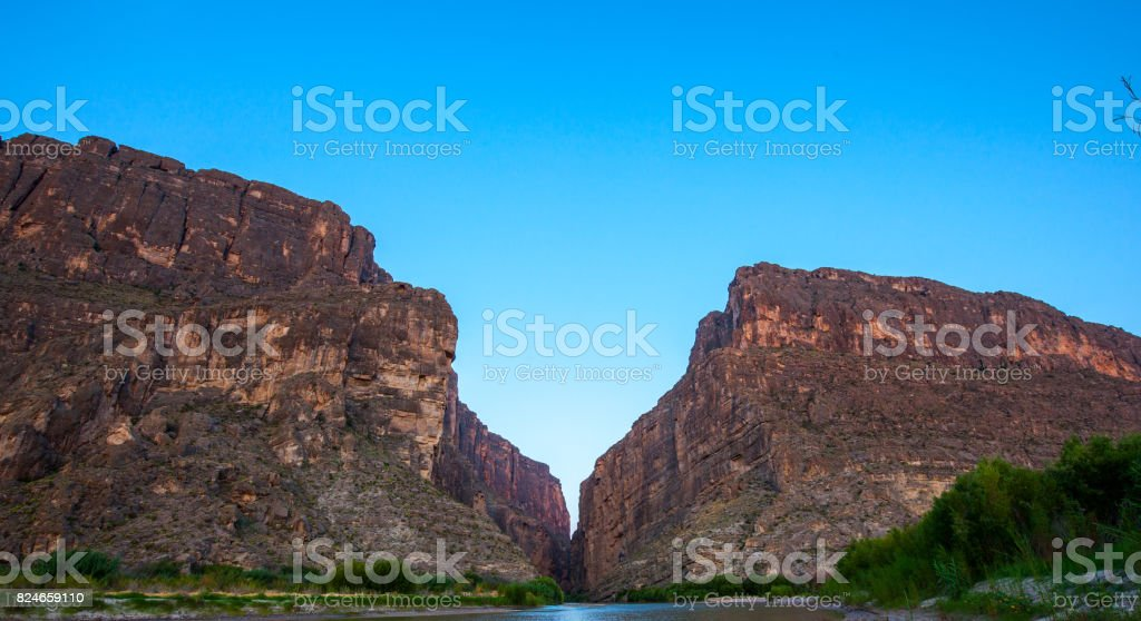 Morning at Santa Elena Canyon stock photo