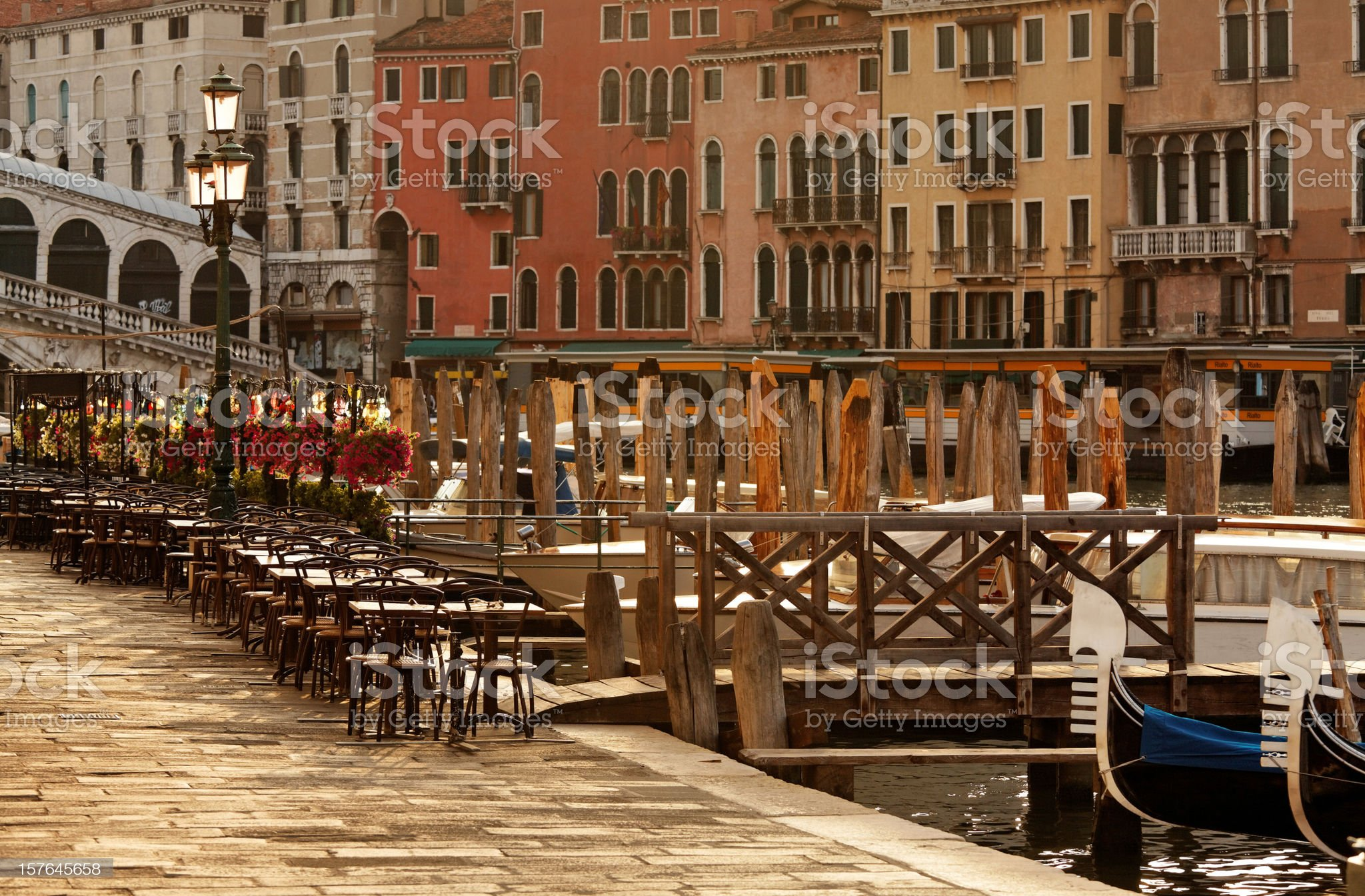 Morning at the Grand Canal royalty-free stock photo