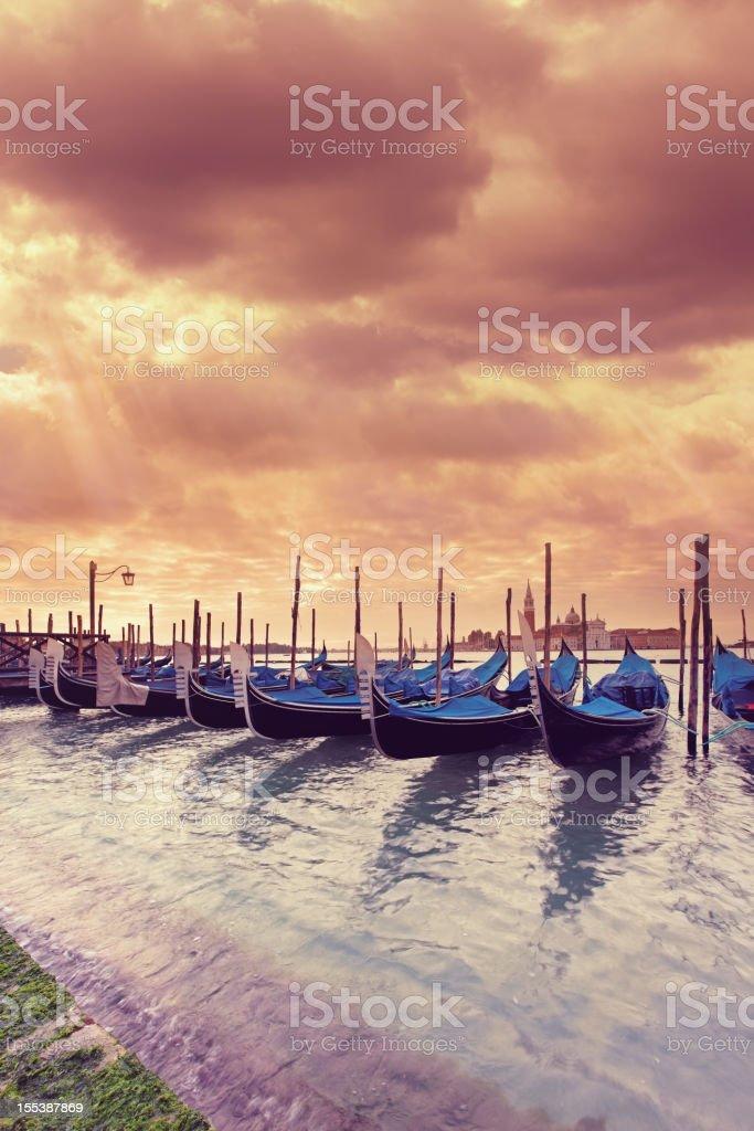 Morning at the Venetian Lagoon royalty-free stock photo
