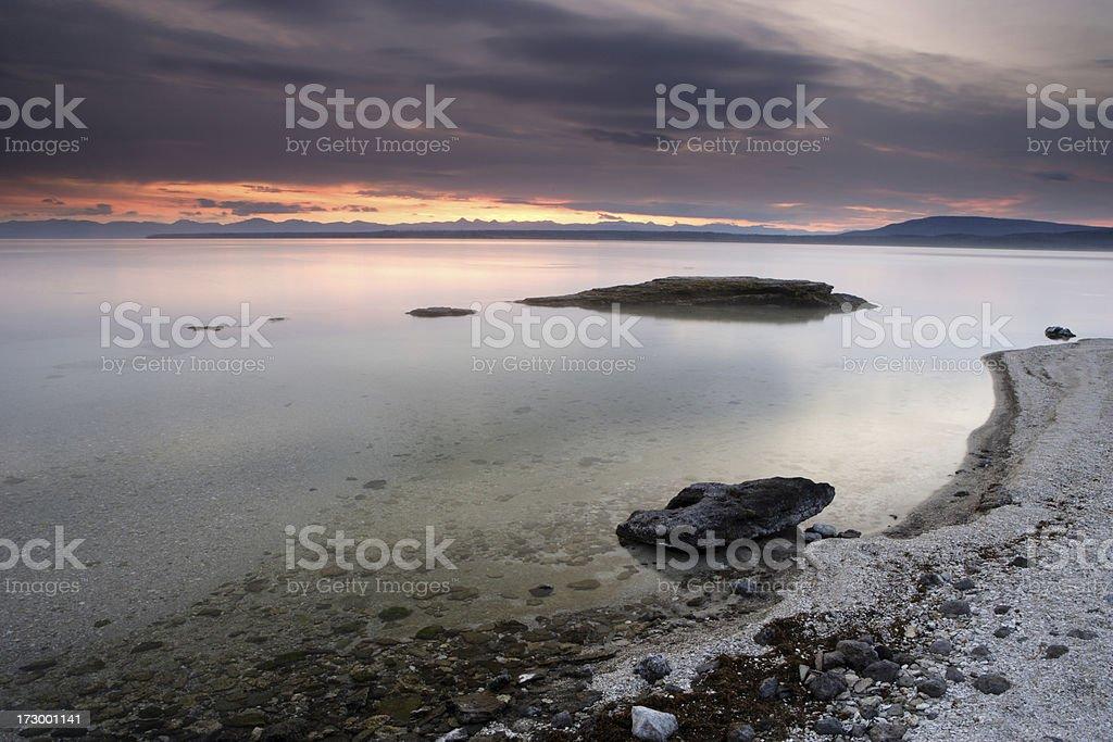 Morning at Yellowstone Lake royalty-free stock photo