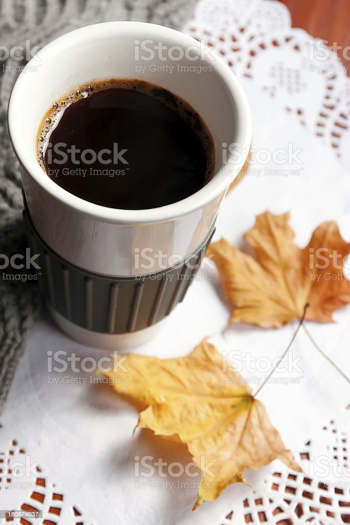 Morning autumn coffee royalty-free stock photo