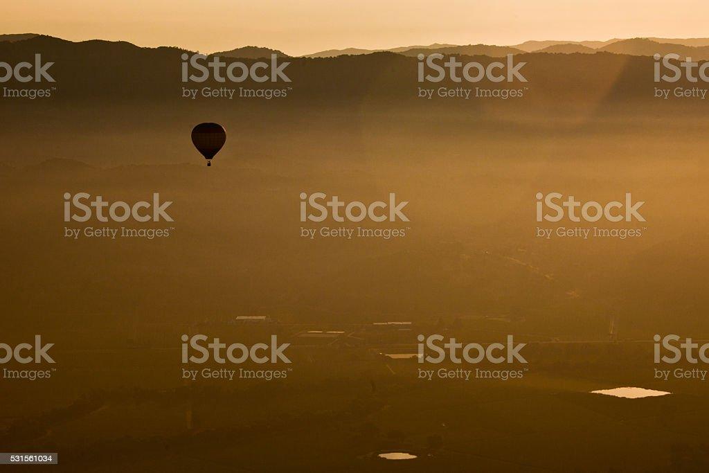 Morning Balloon Flight stock photo