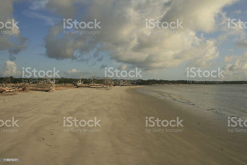 Morning Beach view royalty-free stock photo
