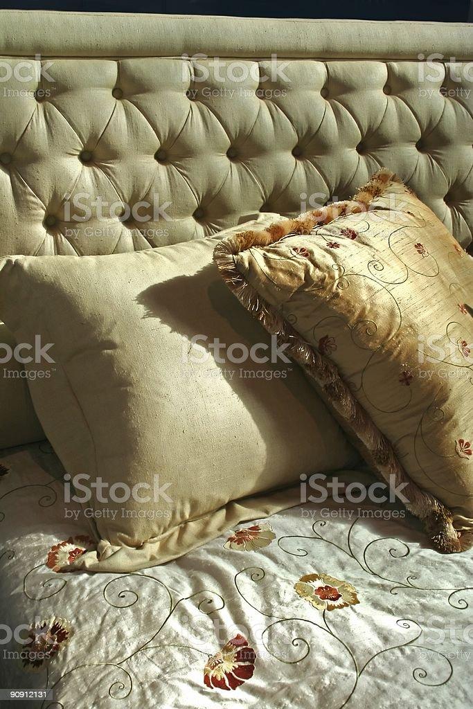 morning bed in honeymoon royalty-free stock photo