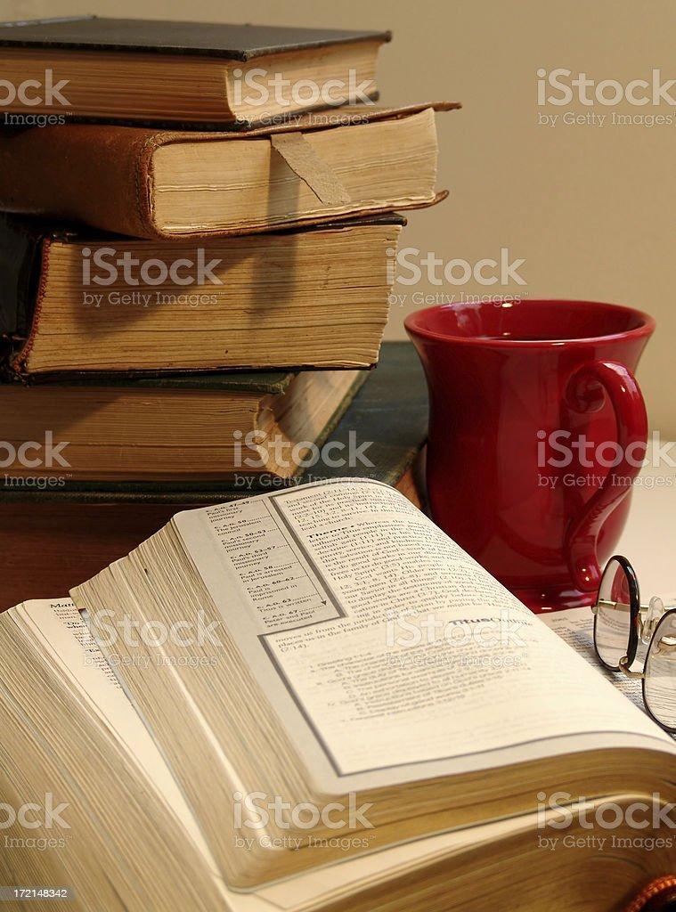 Morning Bible Study royalty-free stock photo