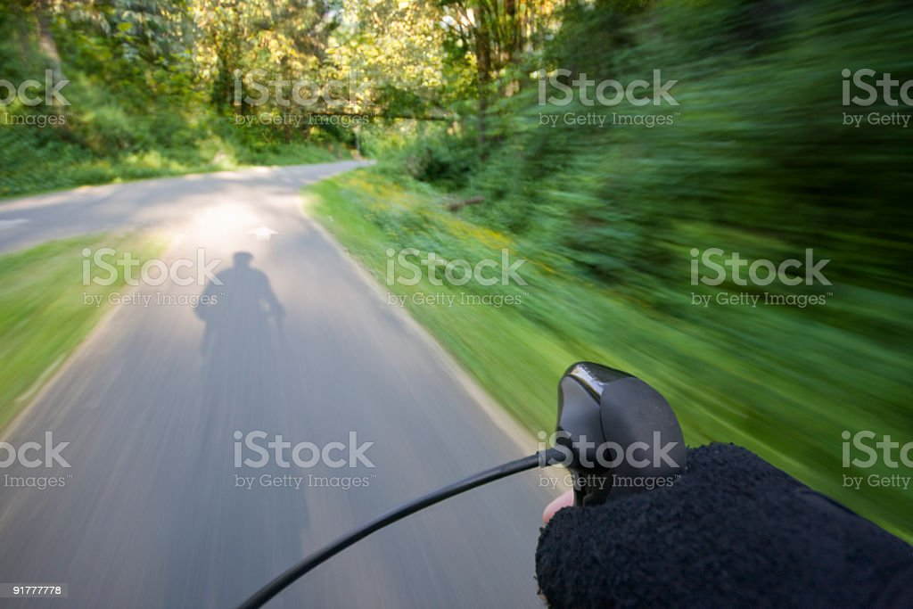 Morning Bicycle Ride royalty-free stock photo