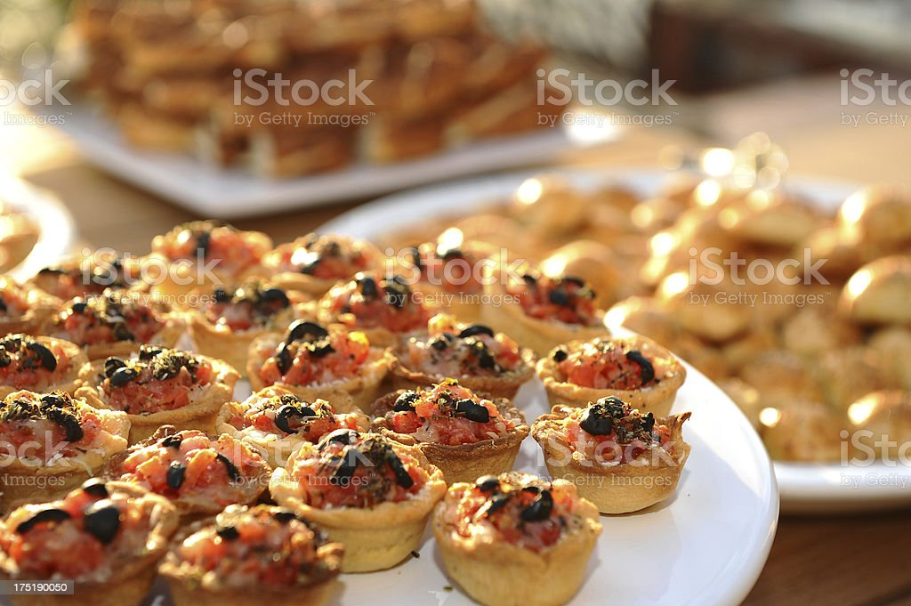 morning breakfast and cakes stock photo