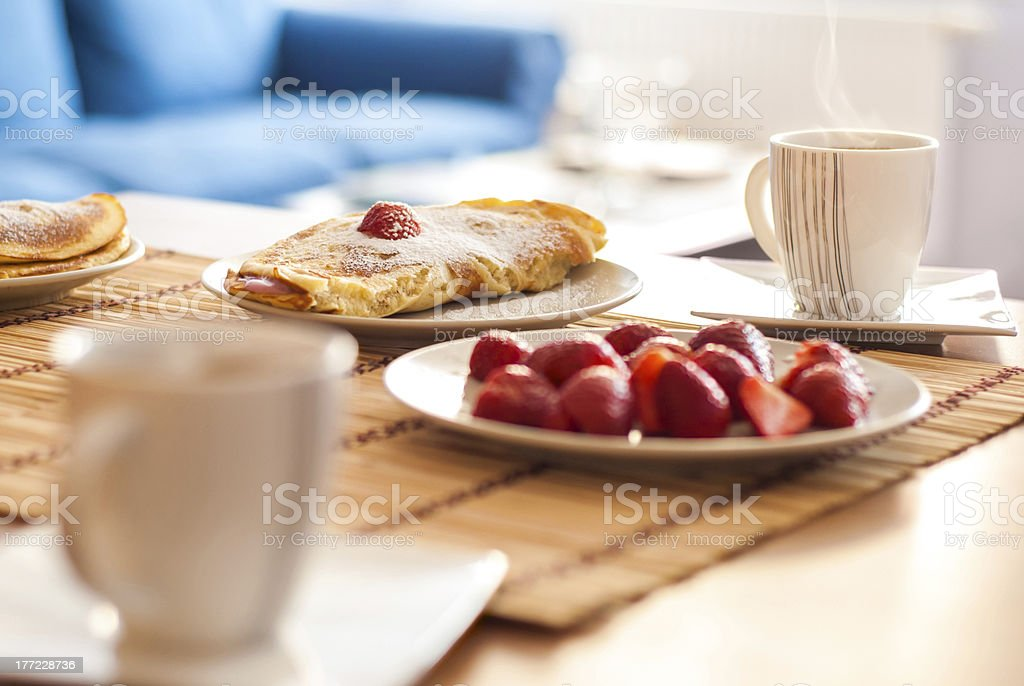 Morning breakfast for a couple royalty-free stock photo