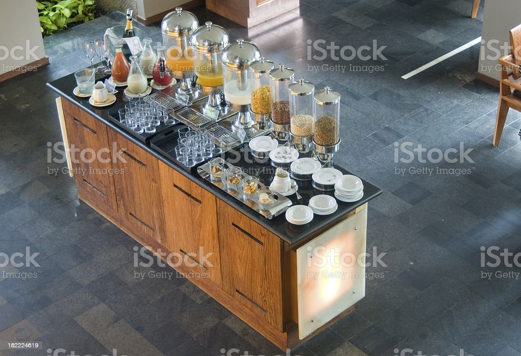 Morning Buffet in Luxury Hotel royalty-free stock photo
