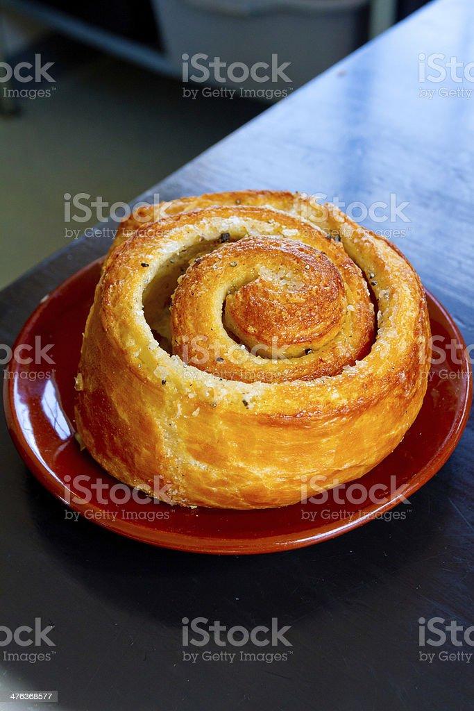 Morning Bun Cinnamon Roll royalty-free stock photo