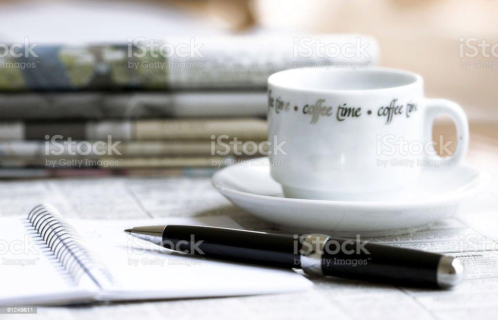 morning business still life royalty-free stock photo