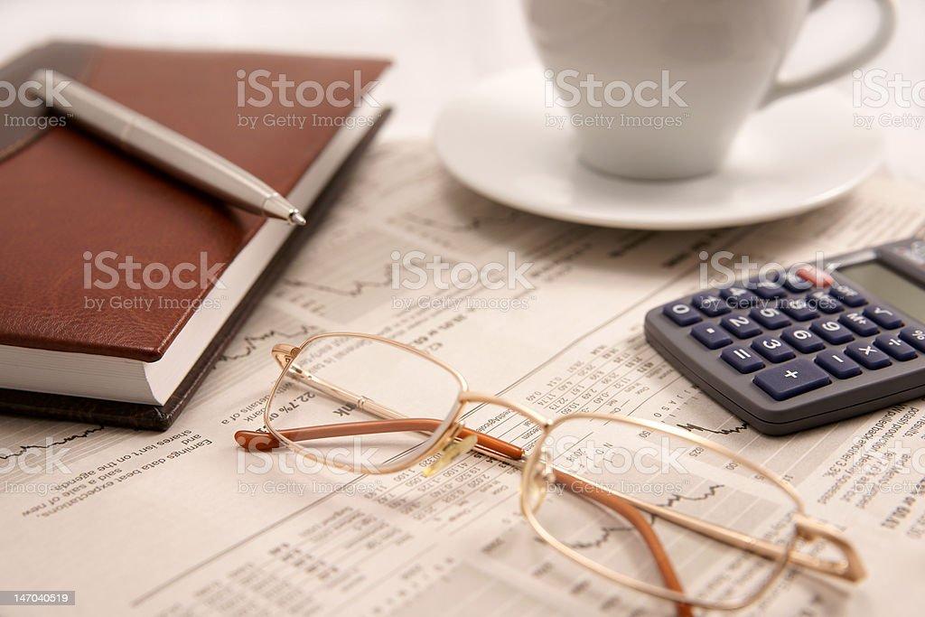 Morning business still-life royalty-free stock photo