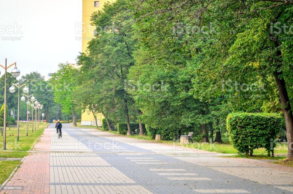 Morning calm urban landscape. stock photo