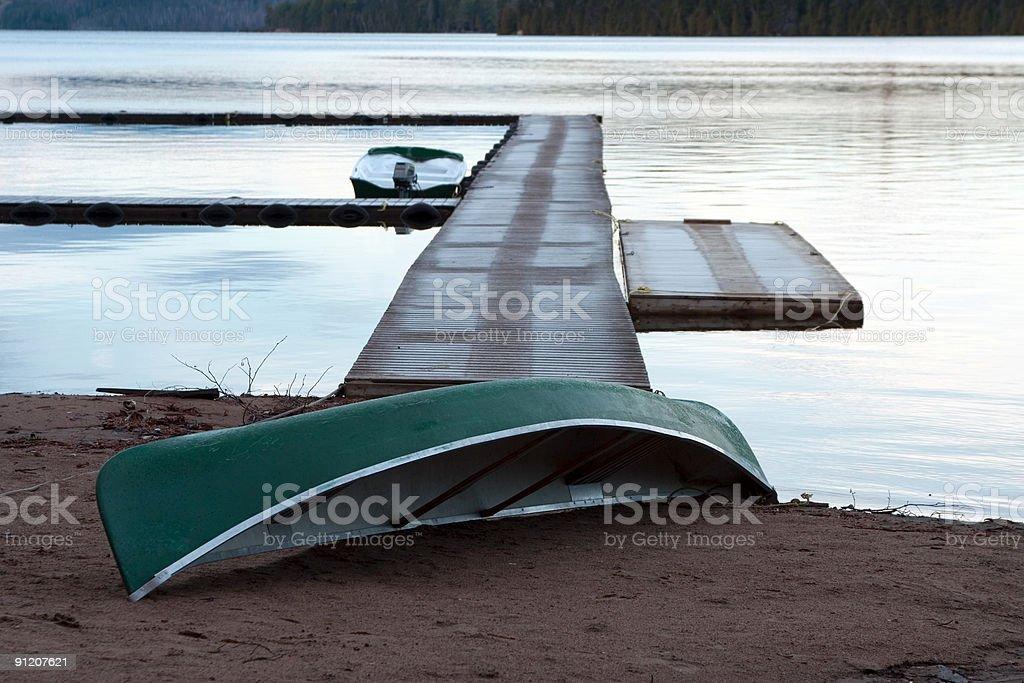 Morning canoe royalty-free stock photo
