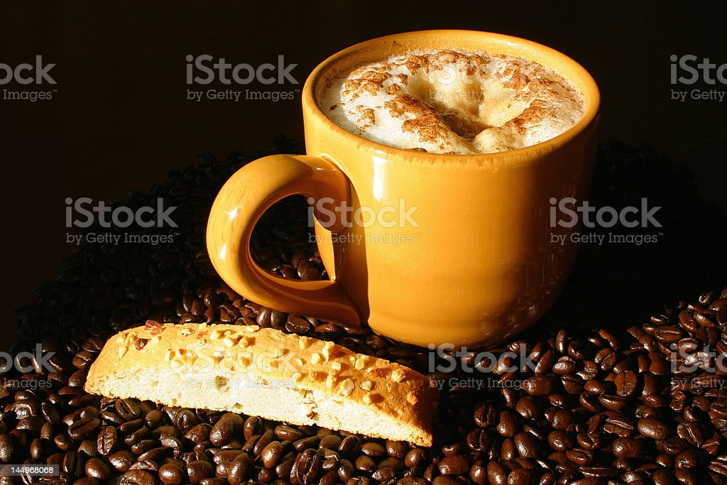 Morning Cappuccino Snack royalty-free stock photo