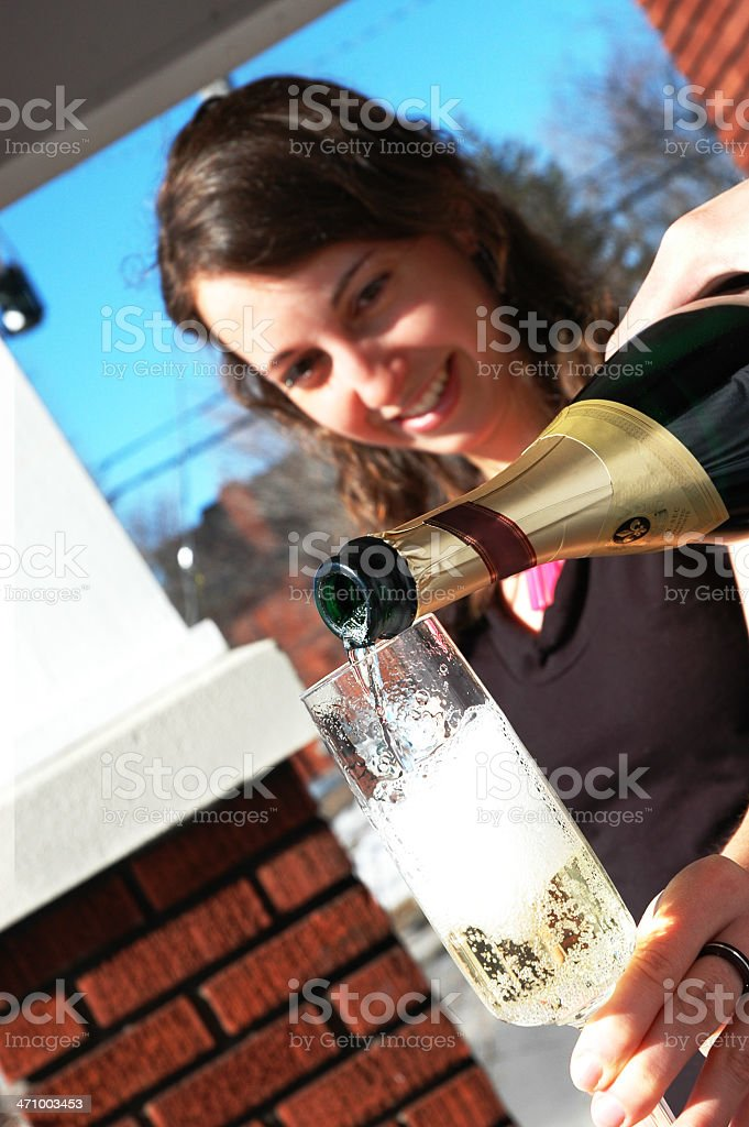 Morning Champagne royalty-free stock photo