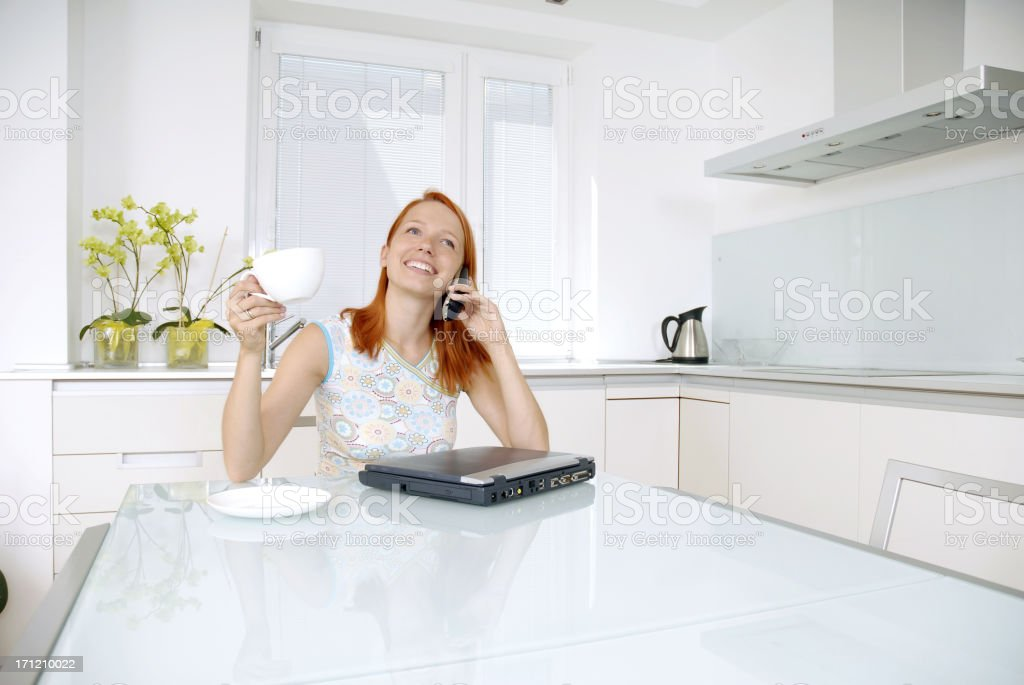 Morning chat royalty-free stock photo