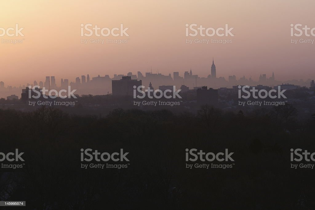 morning city view royalty-free stock photo