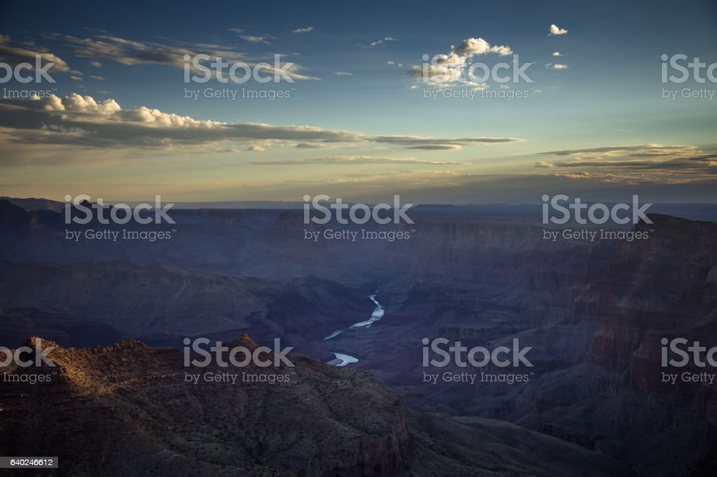 Morning Cloud Over the Grand Canyon stock photo