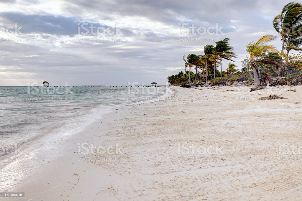 Morning clouds above Pilar beach royalty-free stock photo