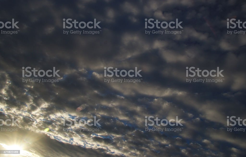 Morning clouds at sunrise royalty-free stock photo
