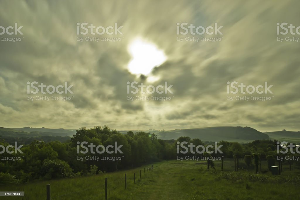 Morning clouds royalty-free stock photo