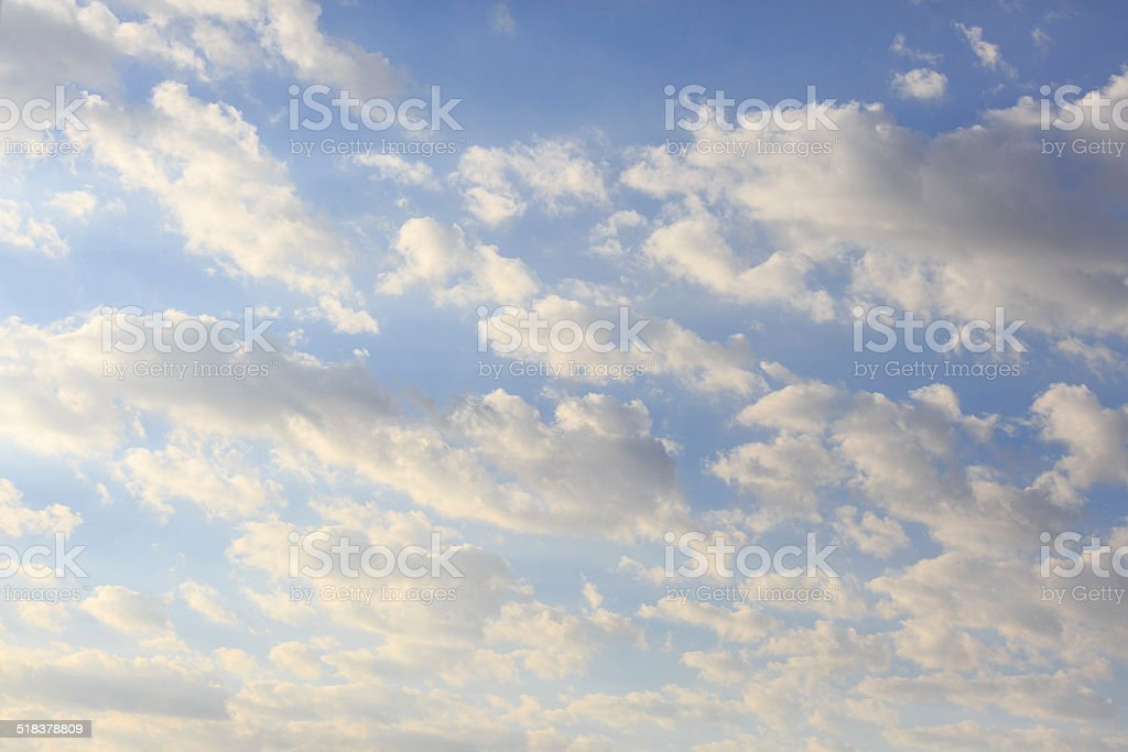 Morning clouds stock photo