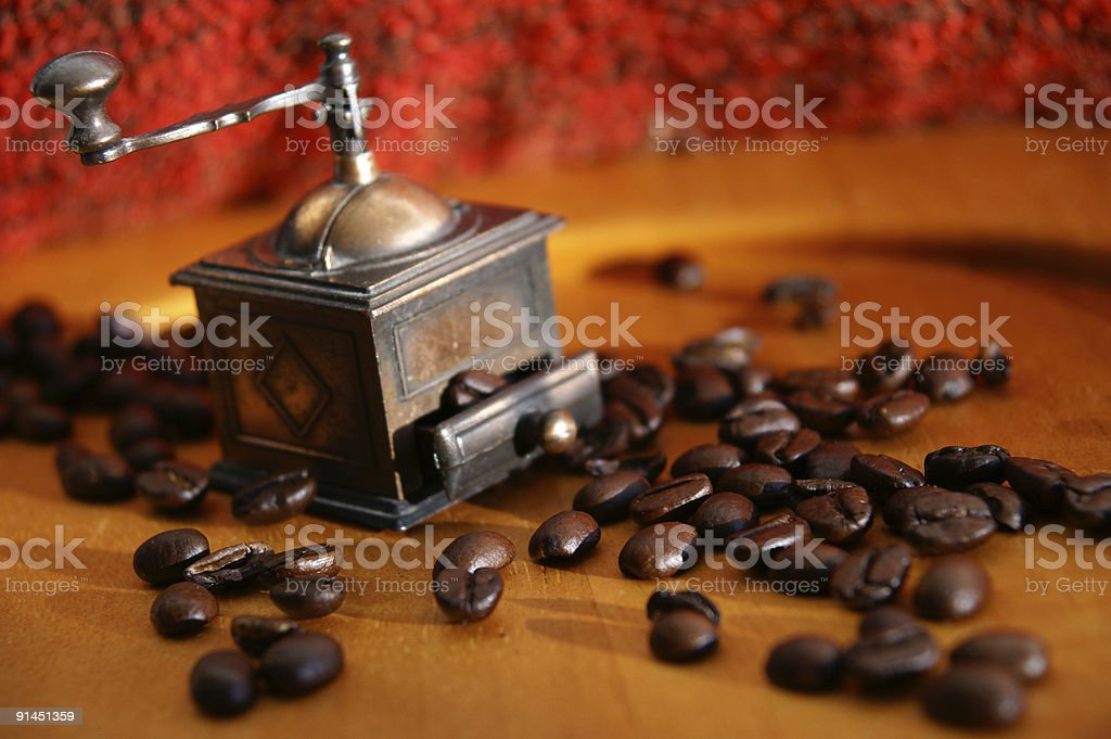 Morning coffee addiction royalty-free stock photo
