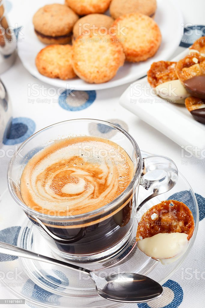 Morning coffee and cookies royalty-free stock photo