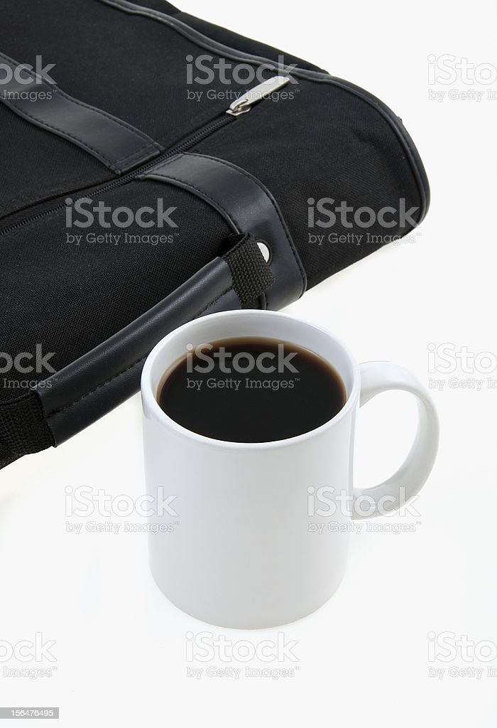 Morning Coffee at Work royalty-free stock photo