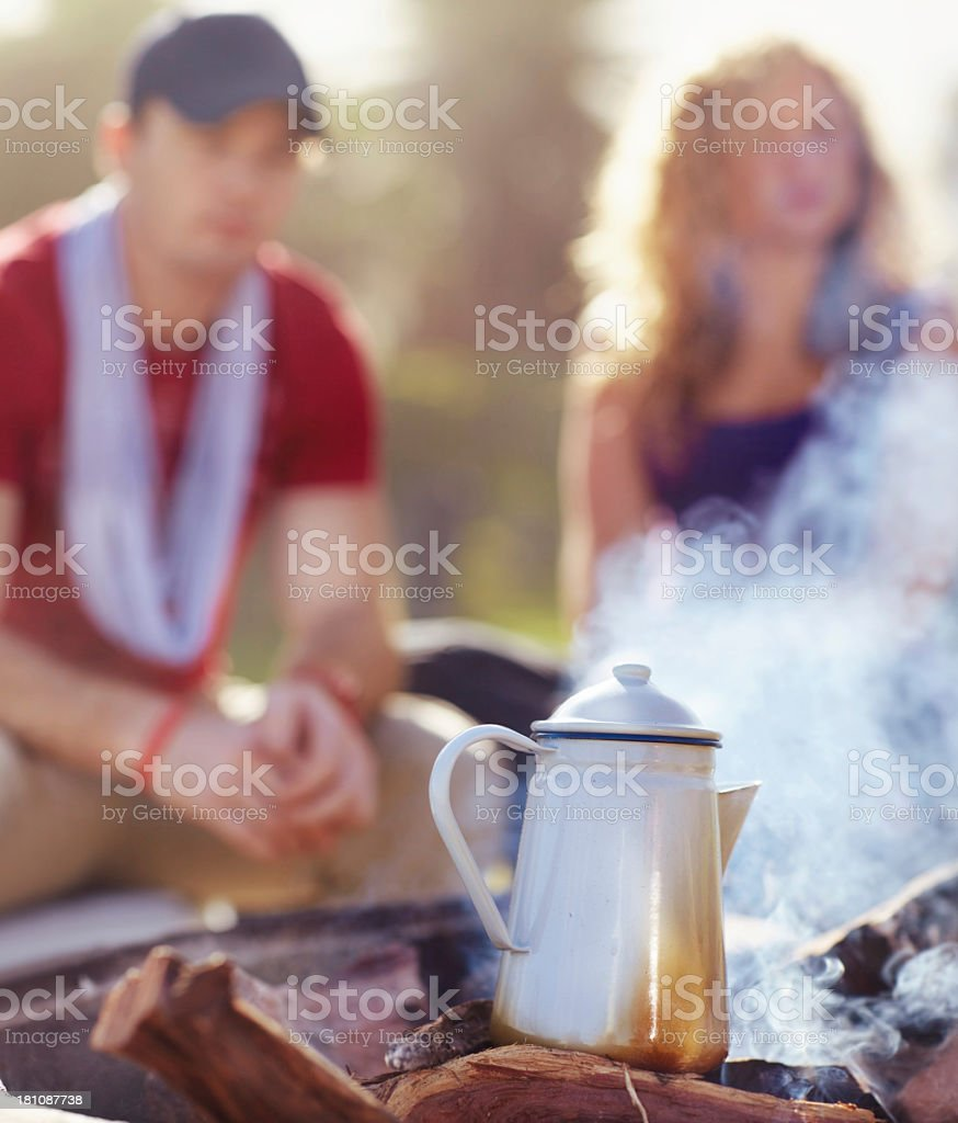 Morning coffee on the brew royalty-free stock photo