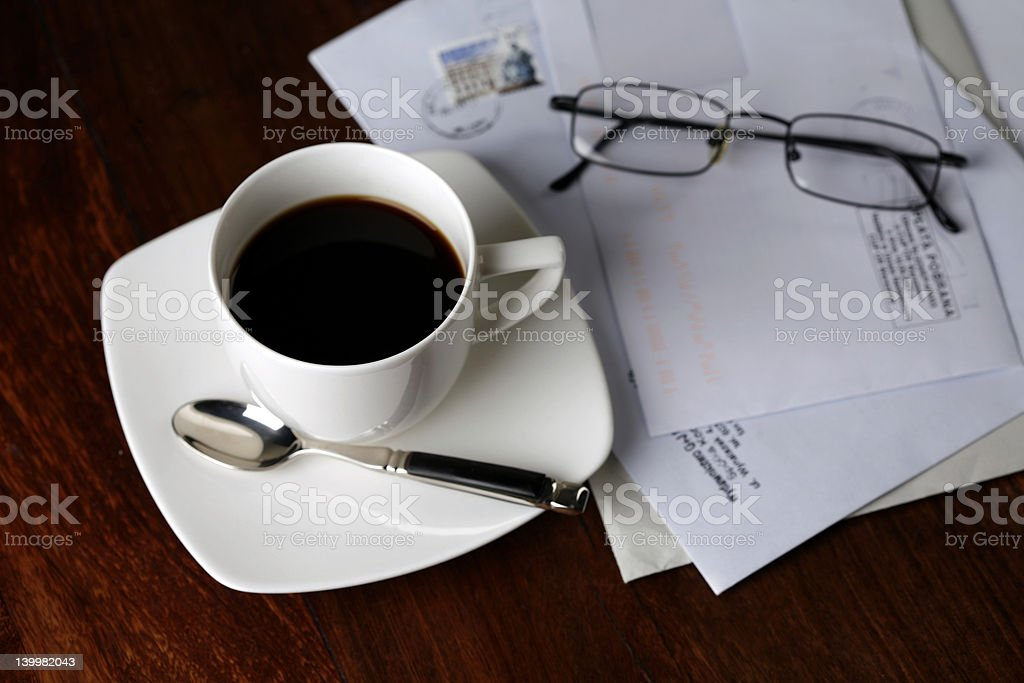 morning coffee royalty-free stock photo