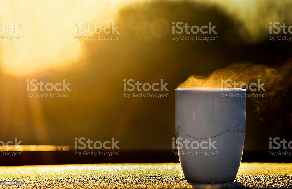 Morning coffee stock photo