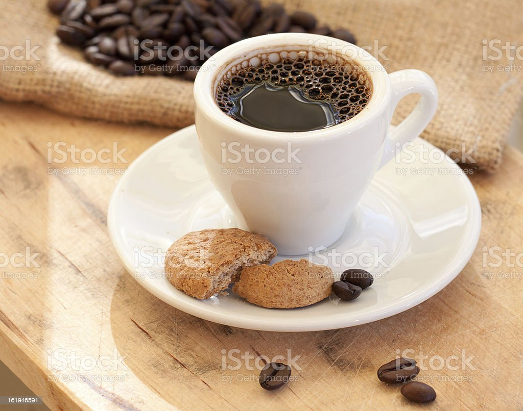 Morning coffee with cookies royalty-free stock photo
