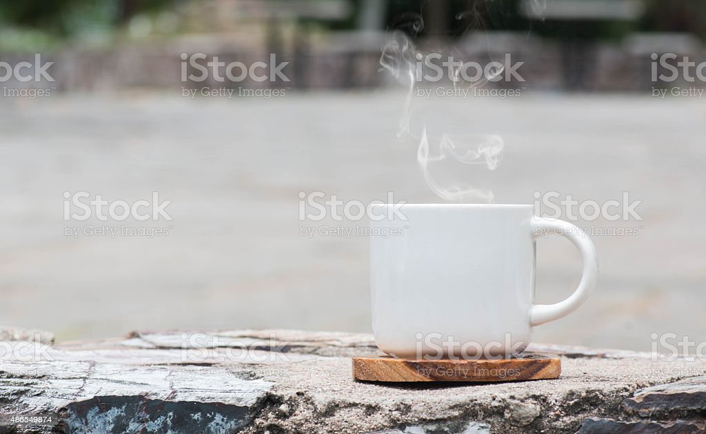 morning coffee with white glass. stock photo