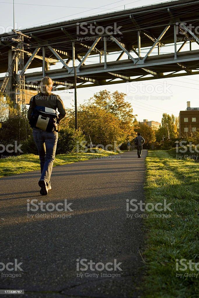 Morning Commute stock photo