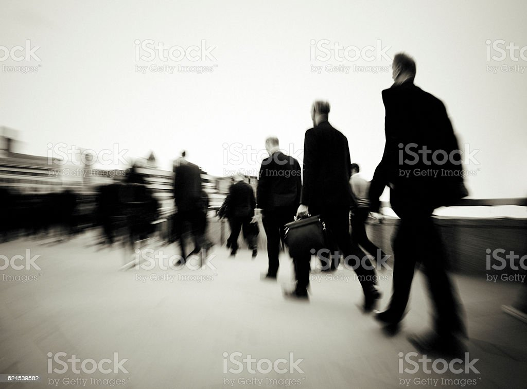 Morning Commuters Of London Concept stock photo