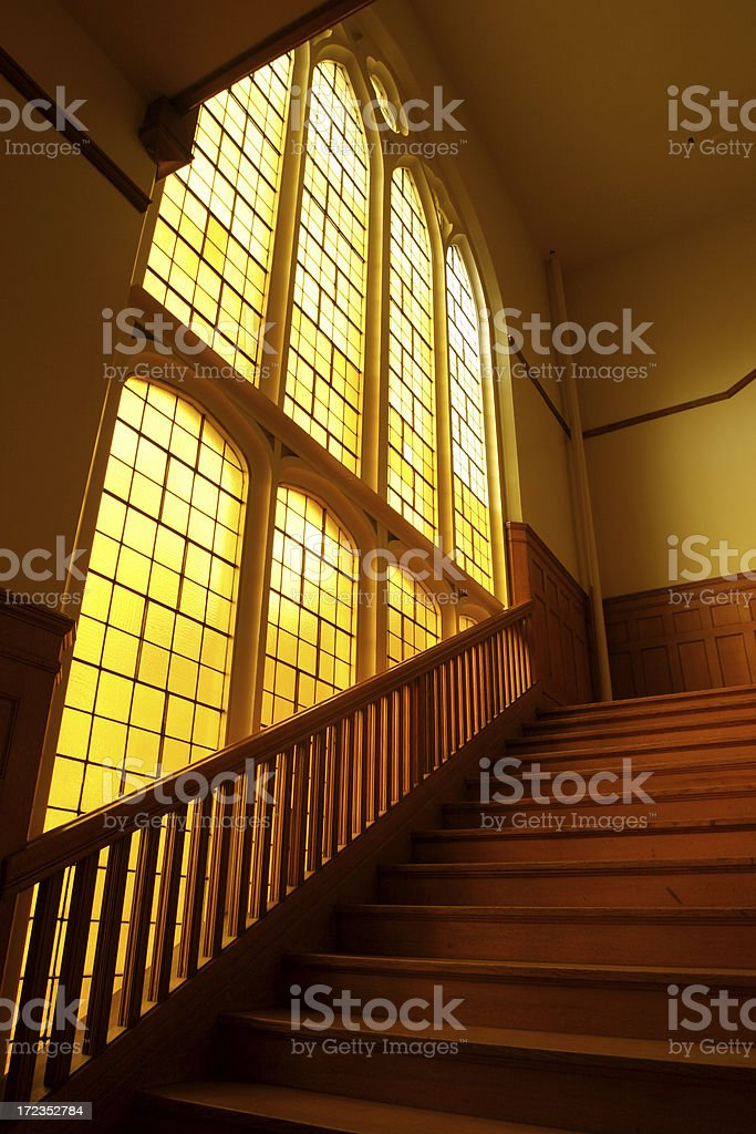 Morning Daylit Staircase royalty-free stock photo