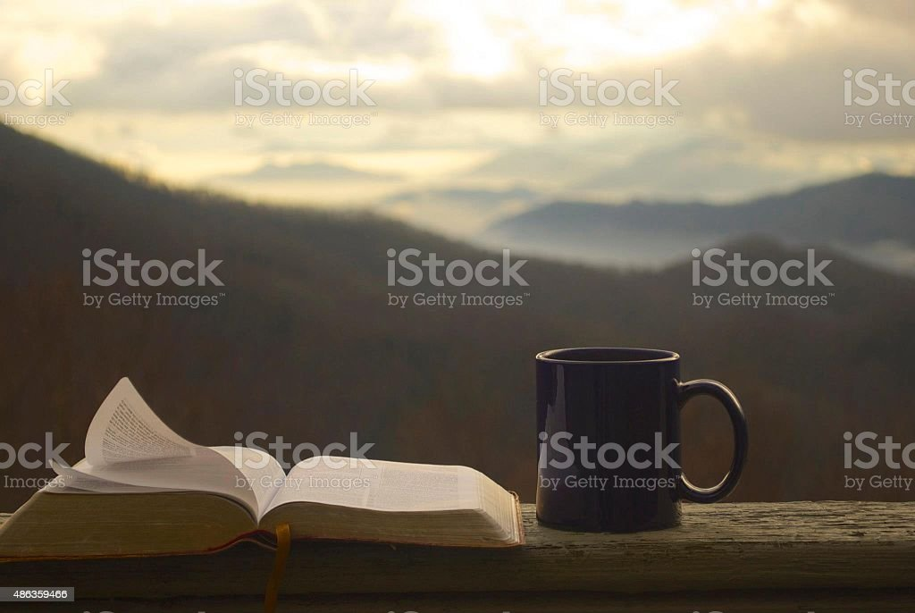 Morning Devotion stock photo
