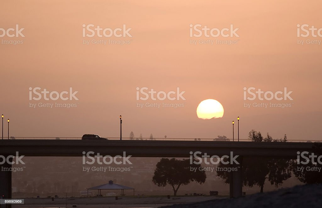 Morning Drive royalty-free stock photo