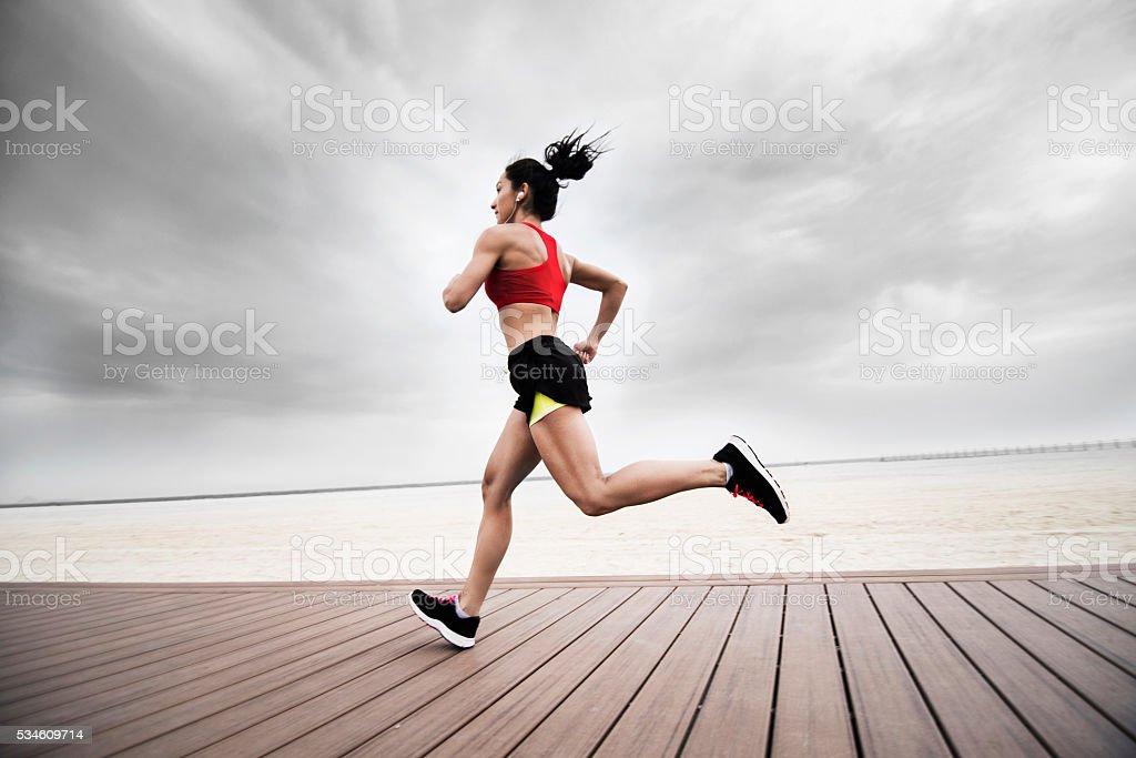 Morning exercise stock photo