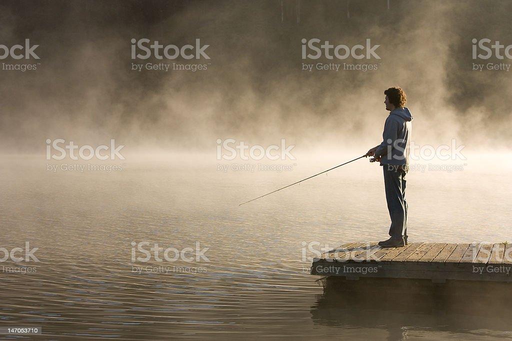morning fishing royalty-free stock photo