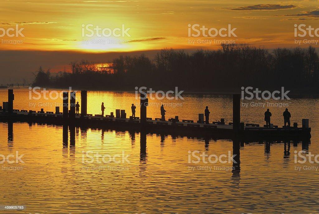 Morning Fishing, Steveston Harbor royalty-free stock photo
