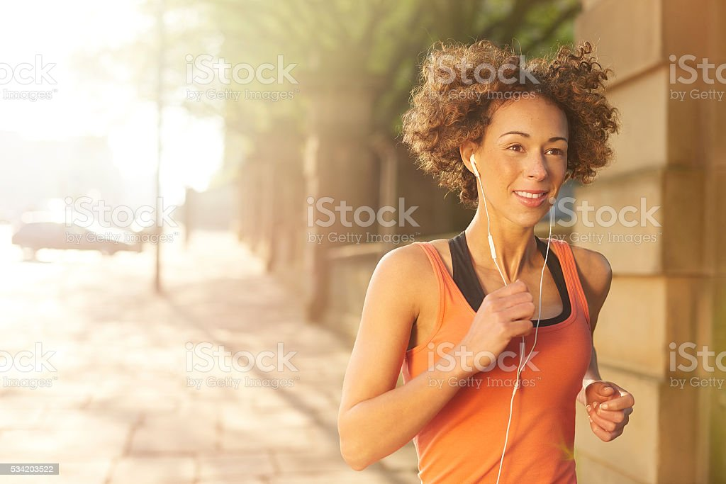 morning fitness run stock photo