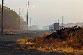 morning fog on railway