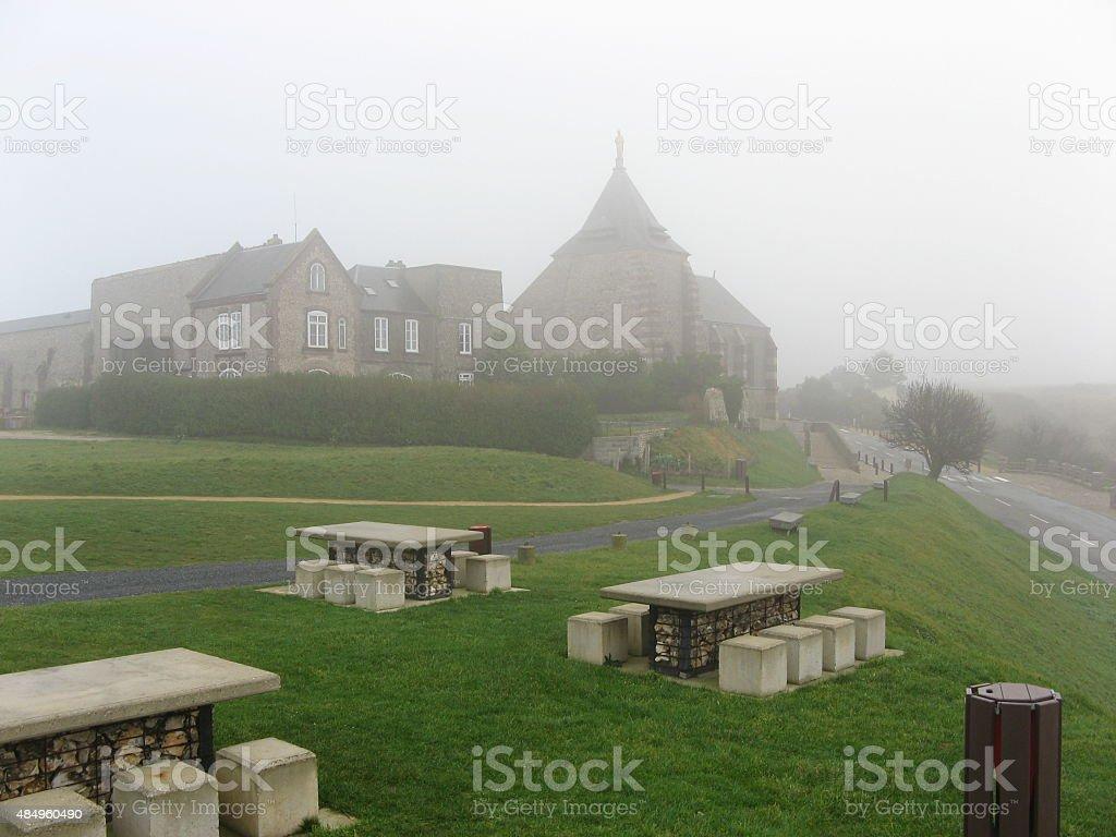 Morning fog stock photo