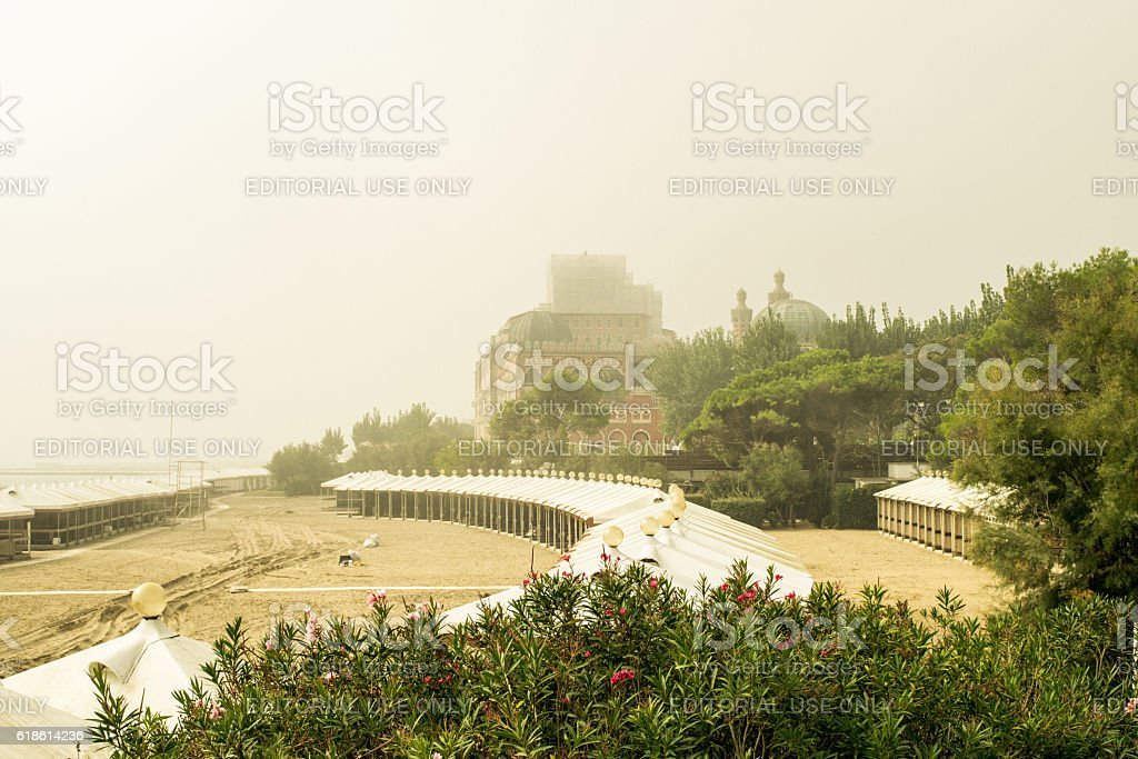 Morning fog. stock photo