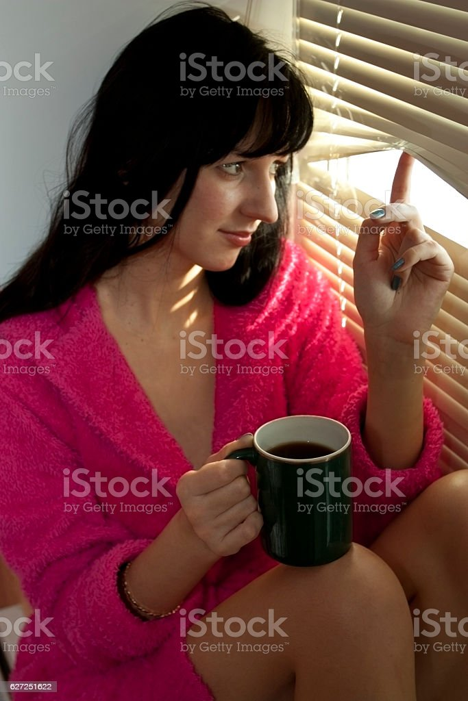 Morning from coffee stock photo