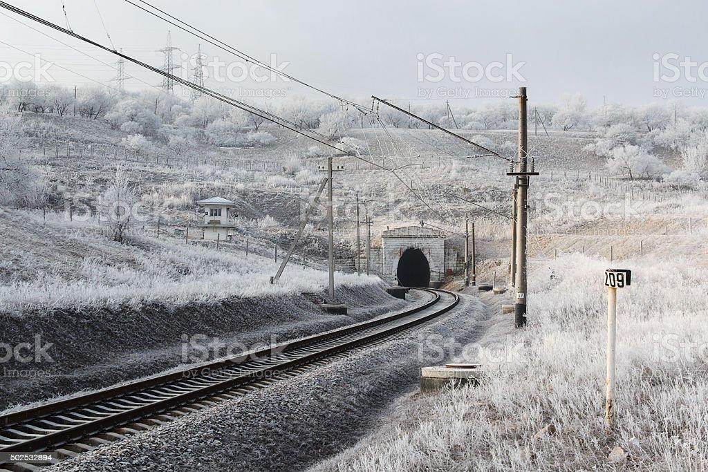 Mañana de ferrocarril de esmerilado foto de stock libre de derechos