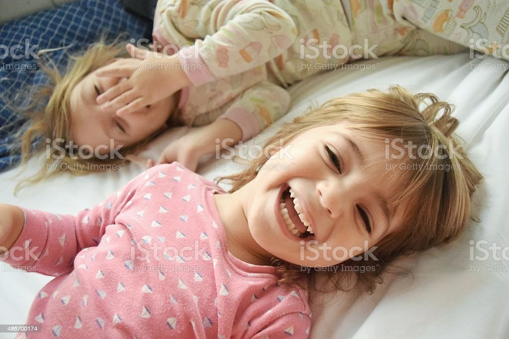 Morning giggles stock photo